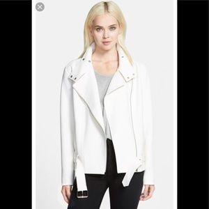 🌞 Trouve white Moto oversized jacket S